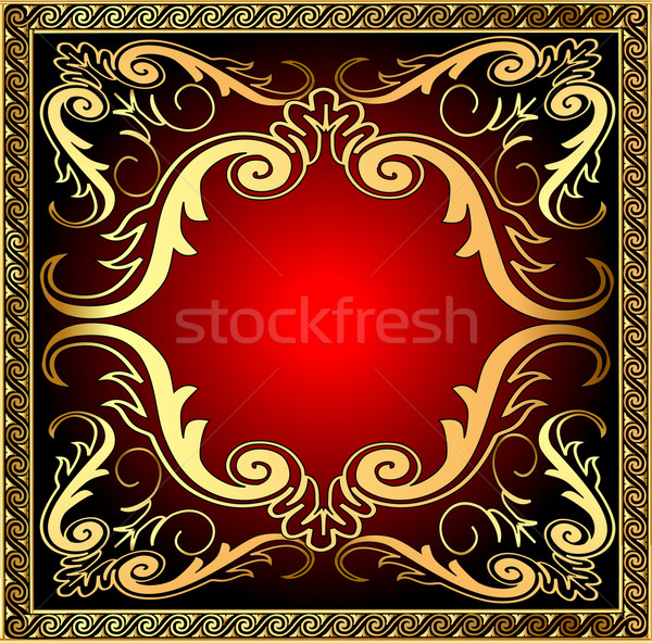 background with frame and royal gold(en) pattern Stock photo © yurkina