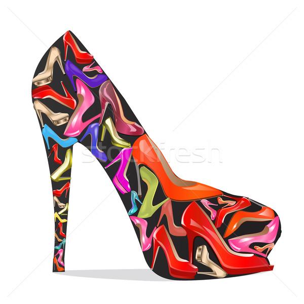靴 テクスチャ 白 実例 ファッション 芸術 ストックフォト © yurkina