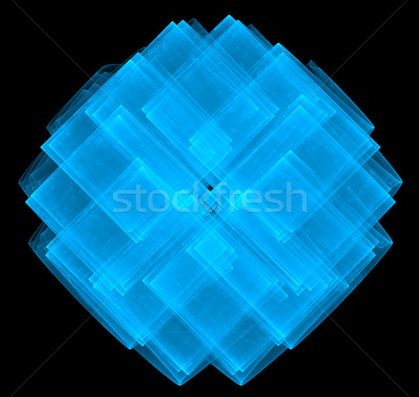 illustration of a fractal abstract background frame with squares Stock photo © yurkina