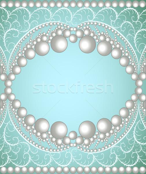 Ilustración banda perlas ornamento ordenador resumen Foto stock © yurkina