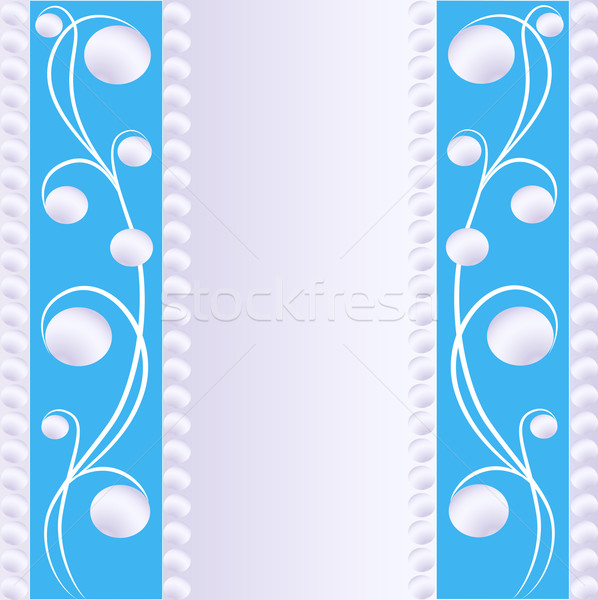 background with a band of pearls and ornament Stock photo © yurkina