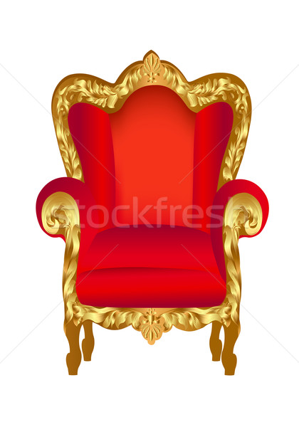 old chair red with gold Stock photo © yurkina