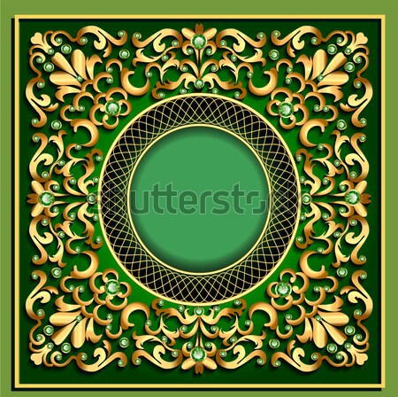 Background with precious stones,  pattern in the form of a glass Stock photo © yurkina