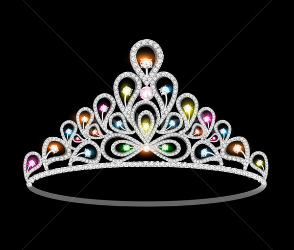 crown tiara women with glittering precious stones Stock photo © yurkina