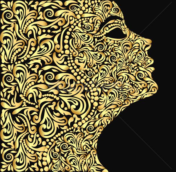 女の子 顔 フローラル 飾り 実例 ストックフォト © yurkina