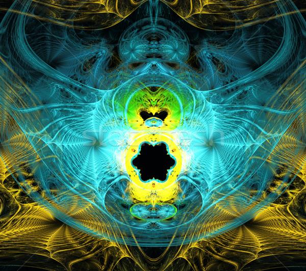 Illustrazione abstract frattale nero colore buio Foto d'archivio © yurkina