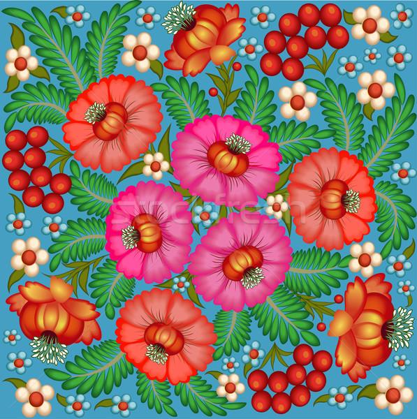 örnek boyalı çiçekler karpuzu dizayn yaprak Stok fotoğraf © yurkina