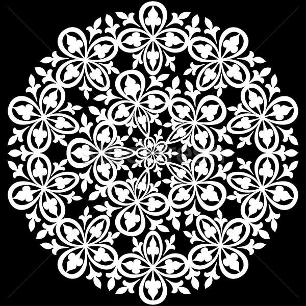 ornamental round lace pattern Stock photo © yurkina