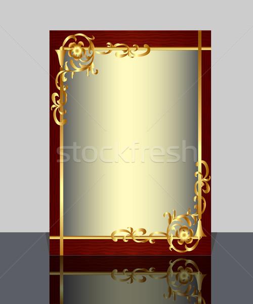 フレーム パターン 反射 実例 壁 ストックフォト © yurkina