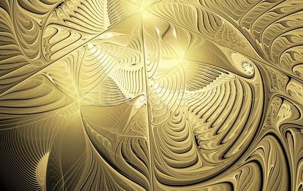 illustration background with shiny gold carvings Stock photo © yurkina