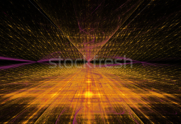 Illustratie abstract technologie vooruitzicht stadion ontwerp Stockfoto © yurkina