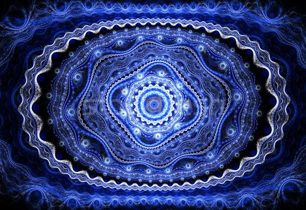 Illustration fractal background with blue floral pattern Stock photo © yurkina