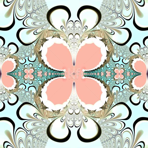 Stockfoto: Kleurrijk · fractal · natuurlijke · fenomeen · wiskundig · ingesteld
