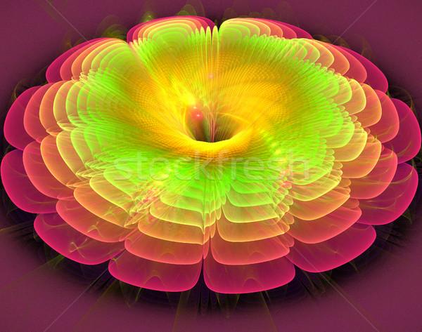 Ilustração fractal fantástico brilhante brilhante flor Foto stock © yurkina