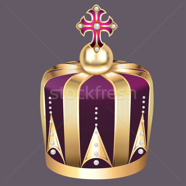 imperial crown of gold and pearls Stock photo © yurkina