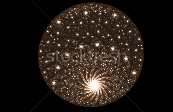 Stockfoto: Fractal · illustratie · bal · parels · abstract