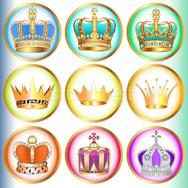 иллюстрация набор драгоценный камней дизайна знак Сток-фото © yurkina