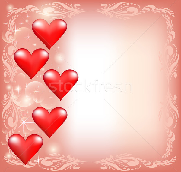 of pink for Valentine's Day with hearts and stars Stock photo © yurkina