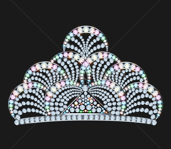 diadem feminine with brilliant gems on black Stock photo © yurkina