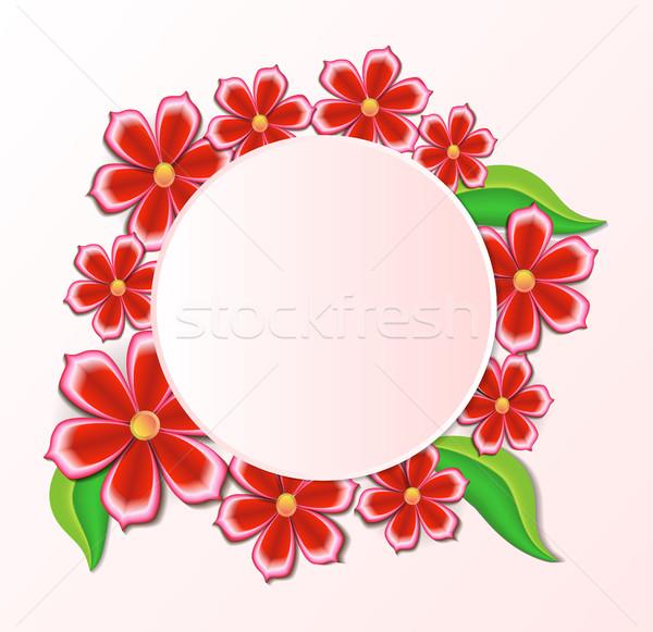 Ilustración hermosa flores floral diseno marco Foto stock © yurkina