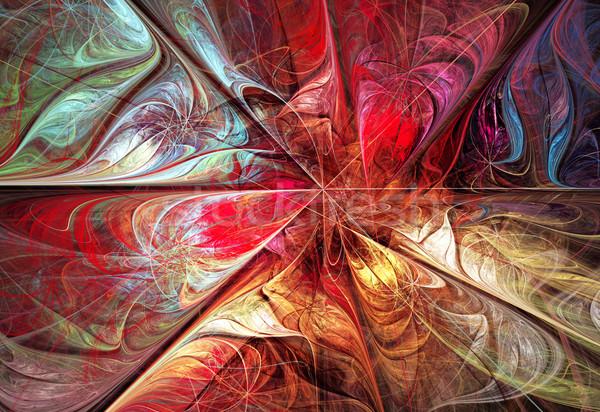 実例 フラクタル 明るい 秋 フローラル パターン ストックフォト © yurkina