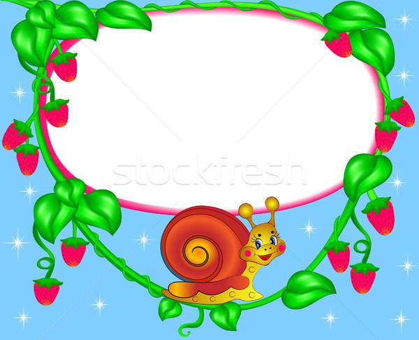 питомник кадр фото улитки ягодные иллюстрация Сток-фото © yurkina