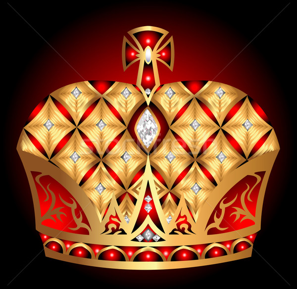 gold(en) royal crown insulated on black background Stock photo © yurkina