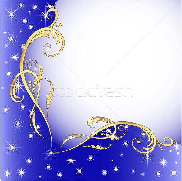 background with gold (en) an ornament and stars Stock photo © yurkina