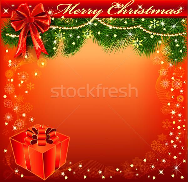 クリスマス 弓 ギフト 実例 クリスマスツリー ストックフォト © yurkina