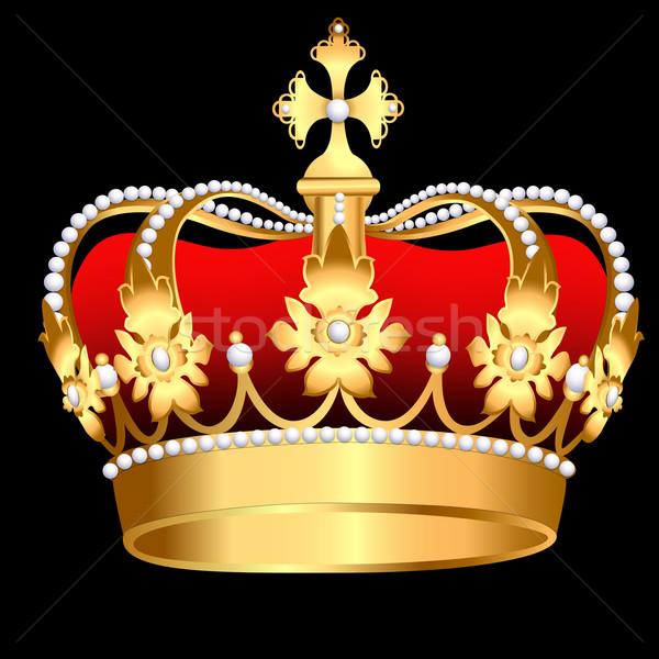 gold corona with pearl and sheet Stock photo © yurkina