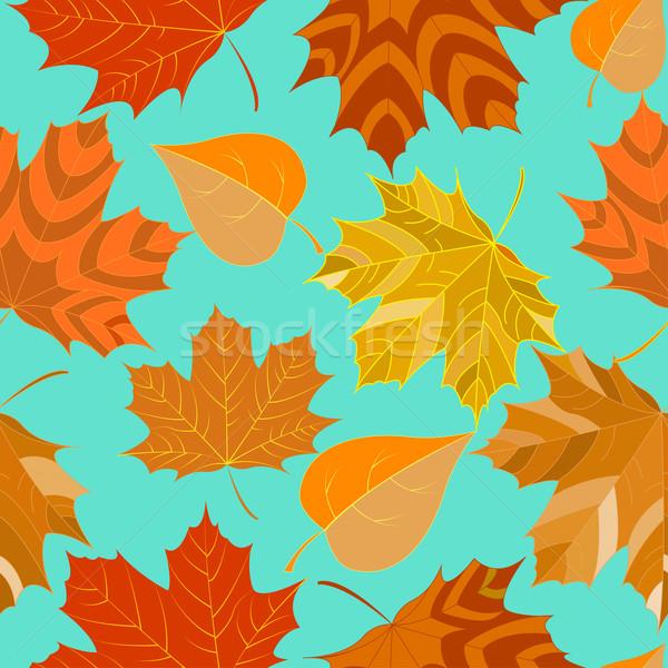 シームレス 紅葉 装飾的な 実例 テクスチャ デザイン ストックフォト © yurkina