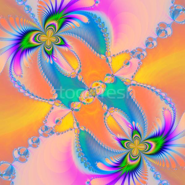 Stockfoto: Kleurrijk · fractal · patroon · digitale