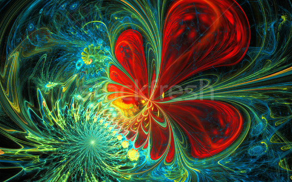 Colorful Fractal Background. A fractal is a natural phenomenon or a mathematical set that exhibits a Stock photo © yurkina
