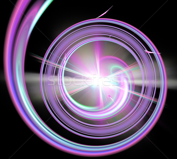 illustration fractal spiral and glowing star at the end of Stock photo © yurkina