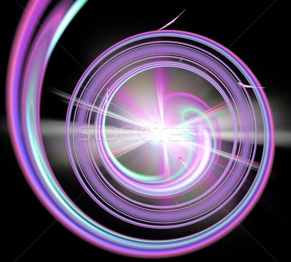 örnek fraktal spiral star son Stok fotoğraf © yurkina