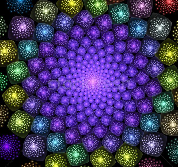 Fractal illustratie spiraal bloem lagen computer Stockfoto © yurkina