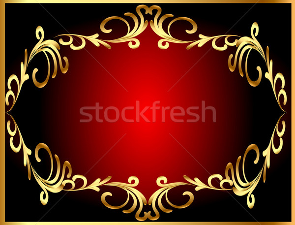 frame background with gold(en) winding pattern Stock photo © yurkina