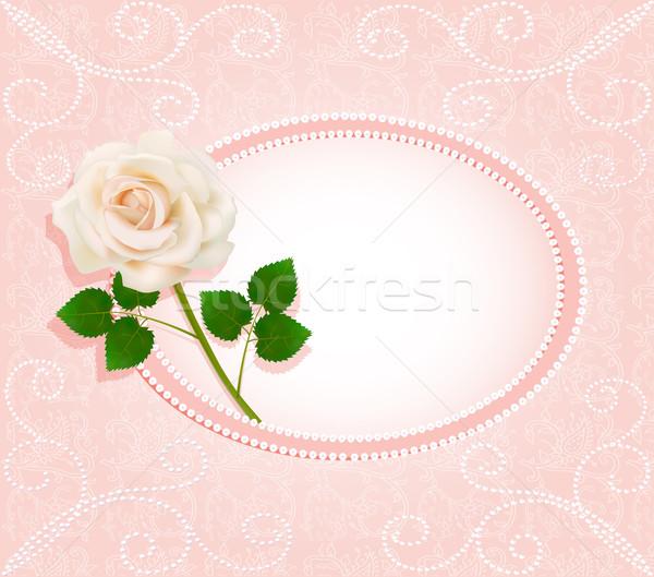 招待 真珠 バラ 実例 花 春 ストックフォト © yurkina