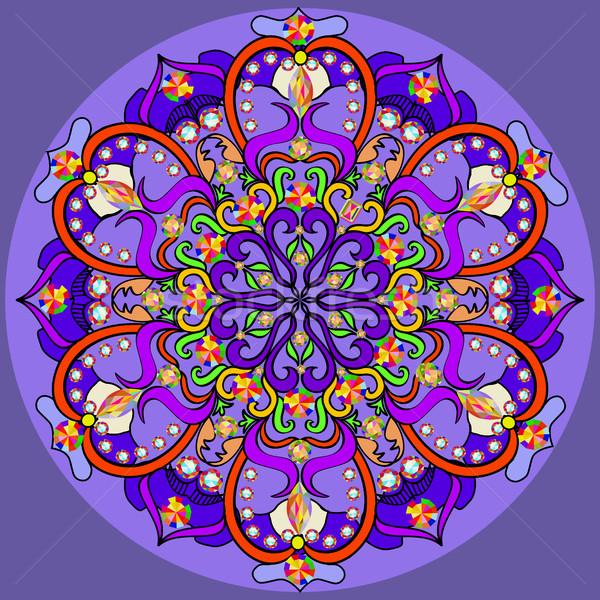 Mandala decoração isolado estilo decoração Foto stock © yurkina