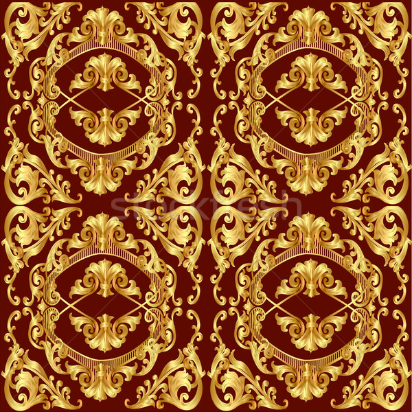 brown seamless texture with gold(en) pattern Stock photo © yurkina