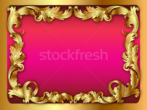 illustration of the pink background of the frame with the orname Stock photo © yurkina
