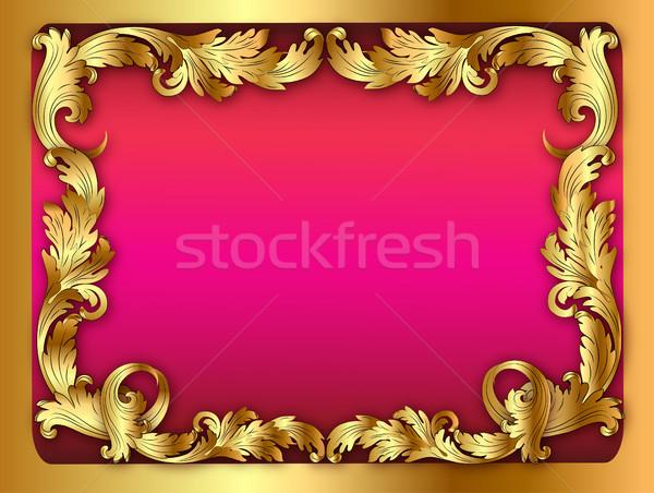 実例 ピンク フレーム 飾り 葉 紙 ストックフォト © yurkina