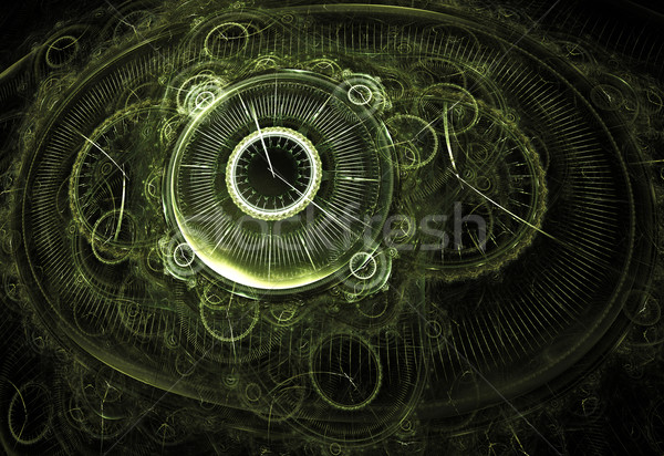 Illustration fractal horloges noir fantôme Photo stock © yurkina