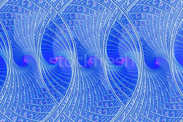 örnek fraktal mavi spiral süs dizayn Stok fotoğraf © yurkina
