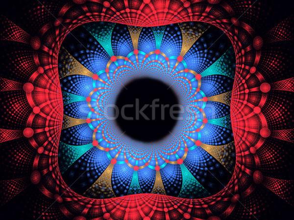 Ilustración marco resumen brillante fractal geométrico Foto stock © yurkina
