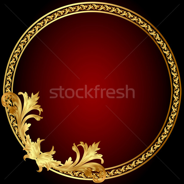 frame  with gold(en) pattern on circle Stock photo © yurkina