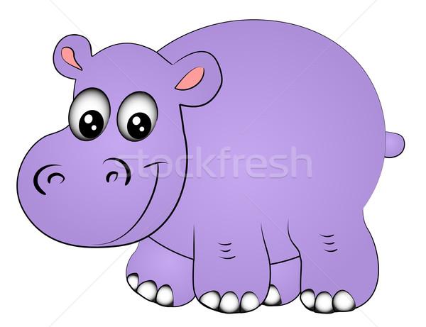 rhinoceros hippopotamus one insulated Stock photo © yurkina