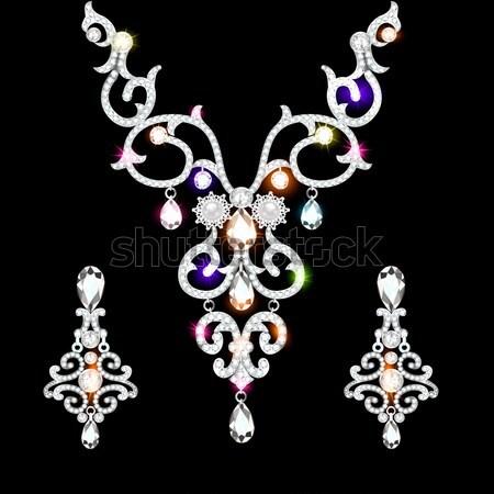illustration wedding pendant necklace Stock photo © yurkina