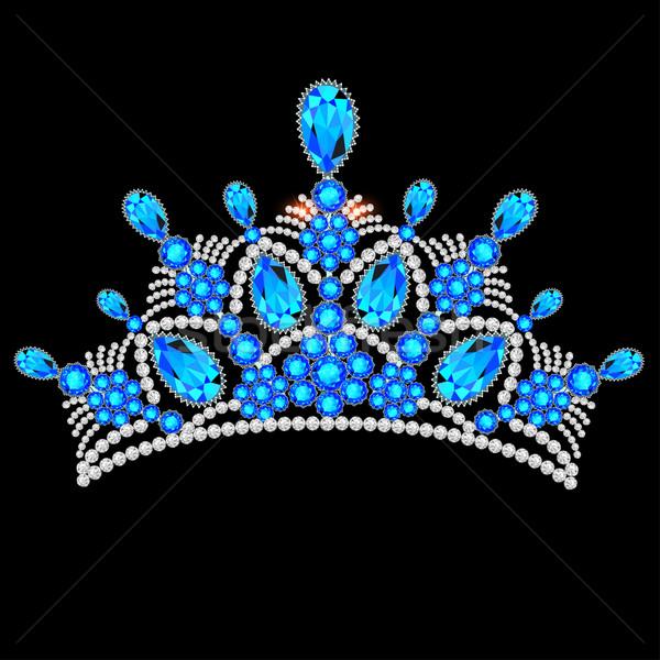 crown tiara women with glittering precious stones Stock photo © yurkina