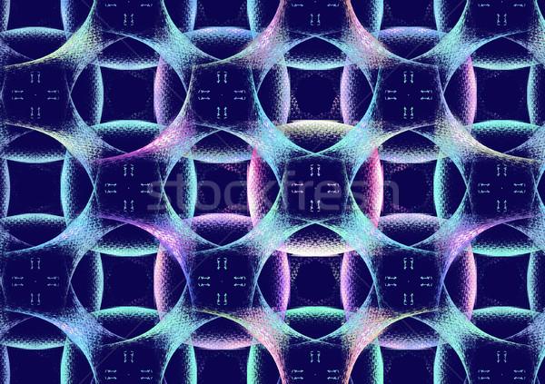 иллюстрация аннотация фрактальный геометрический шаблон технологий Сток-фото © yurkina